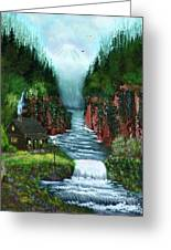 Serenity Valley Greeting Card