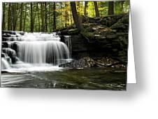 Serenity Waterfalls Landscape Greeting Card