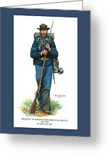 Sergeant - 20th New York State Militia 1862-1863 Greeting Card