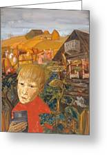 Sergei Esenin 1895-1925 As A Youth, Boris Grigoriev Greeting Card