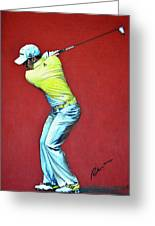 Sergio Garcia By Mark Robinson Greeting Card