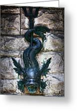Serpent Fountain Greeting Card by Doug Sturgess