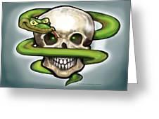 Serpent N Skull Greeting Card
