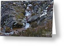 Serra Da Estrela Mountains And Waterfall Greeting Card