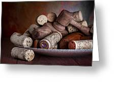 Served - Wine Taps And Corks Greeting Card