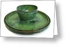 Serving Dish Or Chip And Dip Server Greeting Card by Vernon Nix