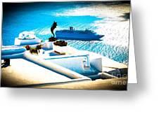 Set Sail Santorini Greeting Card