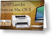Set Up Hp Laserjet 1020 Drivers On Mac Os X Greeting Card