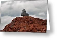 Set Upon A Rock Greeting Card