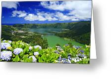 Sete Cidades Crater Greeting Card