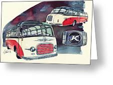 Setra Bus Kassbohrer S11 Greeting Card