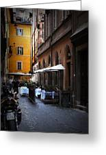 Setta Alley And Motorcycle Greeting Card