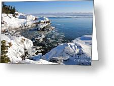 Setting Ice On Superior Greeting Card
