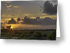 Setting Sun Before The Storm Greeting Card