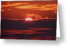 Setting Sun Greeting Card