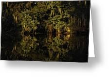 Setting Sun In Maurepas Swamp Greeting Card