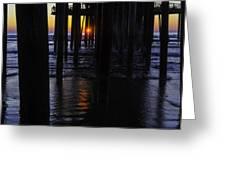 Setting Sun Pismo Beach Greeting Card