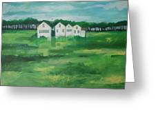 Settlement By Field Greeting Card