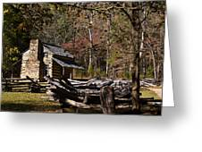 Settlers Cabin Greeting Card