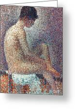 Seurat: Model, 1887 Greeting Card