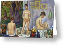 Seurat: Models, C1866 Greeting Card