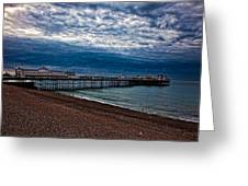 Seven Am On Brighton Seafront Greeting Card