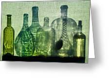Seven Bottles Greeting Card