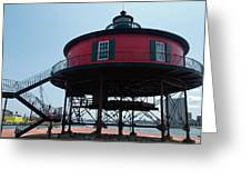 Seven-foot Knoll Lighthouse Greeting Card