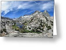 Seven Gables Over Seven Gables Lakes - Sierra Greeting Card