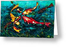 Seven Koi Greeting Card