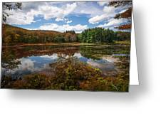 Seven Lakes Autumn Reflections Greeting Card