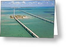 Seven Mile Bridge Crossing Pigeon Key Greeting Card