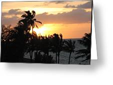 Seven Mile Sunset Greeting Card