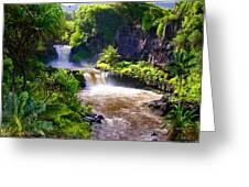 Seven Sacred Pools Maui Greeting Card