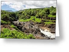 Seven Sacred Pools Ohe'o Mau Greeting Card