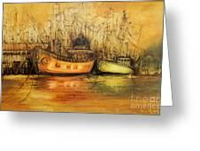 Seven Seas Greeting Card by Fatima Stamato
