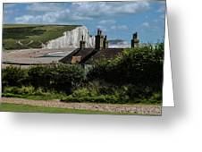 Seven Sisters Cottage Greeting Card