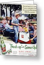 Seven-up Soda Ad, 1954 Greeting Card