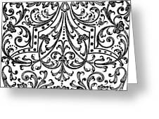Seventeenth Century Parterre Pattern Design Greeting Card