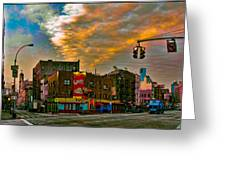 Seventh And Bleeker At Sunrise Nyc Greeting Card