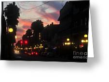 Seventh Avenue Night Greeting Card