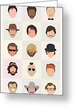 Seventies Movie Dudes Greeting Card