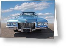 Seventies Superstar - '71 Cadillac Greeting Card