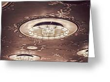 Severance Hall Ceiling Detail   Greeting Card