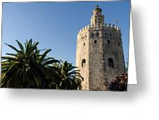 Seville - A View Of Torre Del Oro 2 Greeting Card