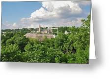Seville Schofields Mill And St John The Baptist - Manayunk Greeting Card
