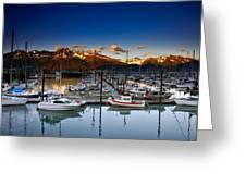 Seward Alaska Boat Marina Greeting Card