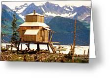 Seward Alaska House Of Stilts Greeting Card