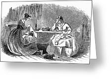 Sewing, 19th Century Greeting Card