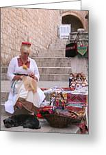 Sewing Souvenirs In Old Dubrovnik Greeting Card